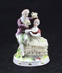 Vintage Wales China From Japan Figurine - Colonial Couple