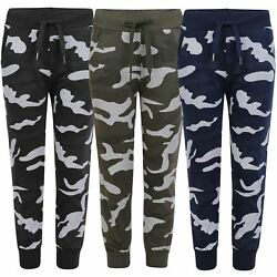 Kids Camo Dot Print Tracksuit Bottoms Boys Girls Joggers Teens Sweatpants 3 14 Y GBP 7.98