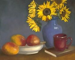 Oil Painting Direct From Artist Still Life. Limited Edition Giclee