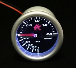 2.045and039and039 52mm Bar Led7707-2 Turbo Boost Vacuum Gauge Car Led White Led Light Dial