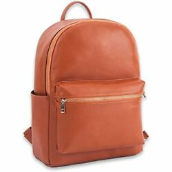 Unisex Faux Diaper Bags Leather Tote Backpack Changing Pad For Men And Women