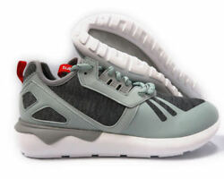 {s82650} Menand039s Adidas Originals Tubular Runner Weave Shoes Grey/red New