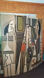 Pablo Picasso, The Painter & His Model1928, Four-Panel Room Divider 72X76 Style