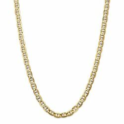 14k Yellow Gold 7.00mm Concave Anchor Link Chain Necklace Msrp 0