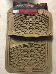 Floor Mats For Suvs Trucks 5pc Set All Weather Rubber Tactical Fit Beige
