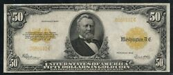 Fr1200a 50 1922 Gold Note Small Serial S Vf+ Rare Only 23 Recored Wlm5616