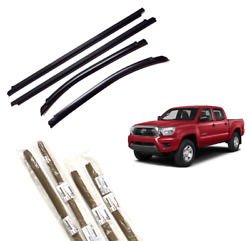 2005-2015 Tacoma Door Belt Molding Weatherstrip Double Cab Front And Rear Set