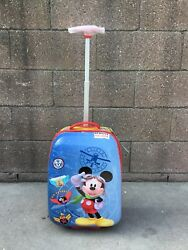 """Disney Mickey House Clubhouse 18"""" Luggage"""