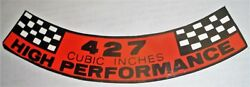 Mustang/ford 427 Engine Air Cleaner High Performance Decal 324 9.95 W/shipping