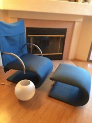 Authentic Ligne Roset Lounge Chair And Ottoman