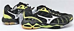 Mizuno Wave Tornado X Low Women Volleyball Shoes Sz 7.5 Black And Neon Yellow New