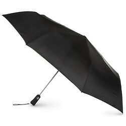 Totes Auto Open Close Golf-Size Folding Canopy Black One Size