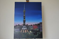 Canvas 18x24 Handpanting - The Ostankino Tower In Moscow,russia /artist V.kovtun