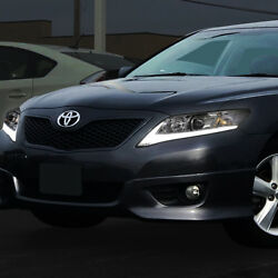 2x Sequential LED Turn Signal+DRL Bar Projector HeadlightLamps For 10-11 Camry