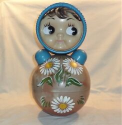 Vintage 1960's Russian Soviet Antique Toy A Doll That Never Falls On Its Back