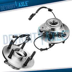 5 Lugs Front Wheel Bearings And Hub For 2006 - 2008 Dodge Ram 1500 W/abs 2wd 4wd