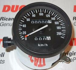 1980's Ducati Indiana Speedometer Assembly With Chrome Housing 036138830