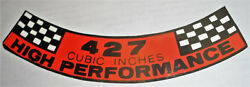 Ford Mustang 427 High Po Engine Air Cleaner Decal 324 9.95 Includes Ship