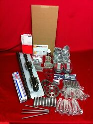 Olds 371 Deluxe Engine Kit 1957 Bearings Gaskets Cam Lifters Pistons Valves++