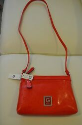 NWT G by Guess Women's Kaven Mini Small Satchel Crossbody  Shoulder Bag in Red