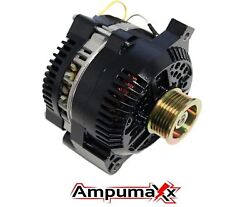 Alternator For Ford Mustang One Wire Black 1-wire High Output 250 Amps 1965-1996