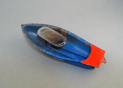 Rare Old Boat Tin Toy Steam Pop Butt Boat East Europe 1950's
