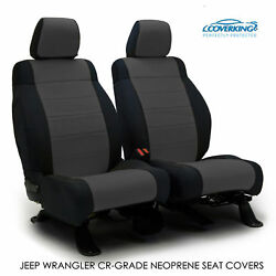 2016 Jeep Wrangler Jk Genuine Neoprene Charcoal Seat Covers By Coverking