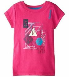 Reebok Girlsand039 Zoom Up Graphic Tee Letters-numbers-shapes Pink Size L