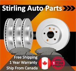 2003 2004 For Dodge Dakota Coated Front And Rear Brake Rotors And Pads
