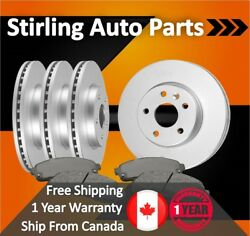 2005 For Saturn Relay Coated Front And Rear Brake Rotors And Pads