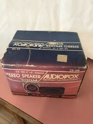 """Audiovox Cx-146 4""""x 6 Coaxial Stereo Car Speaker System In Box Ships N 24h"""