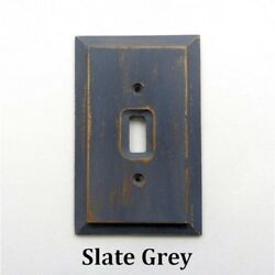 Rustic Light Switch Plate Covers Decorative Wood Primitive Gray Painted Barn