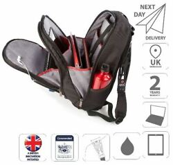 15.6 Laptop And Ipad Backpack Bag Dual Non-slip Straps Black Is0204