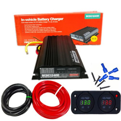 Redarc Bcdc1240d Dual Battery Isolator System Dc To Dc Mppt Solar Agm And Lithium
