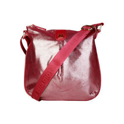NEW Laura Biagiotti bag purse red crossbody designer faux leather