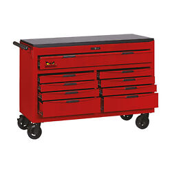 Teng Tools Tcw809n - 53 Inch Wide 9 Drawer 8 Series Roller Cabinet