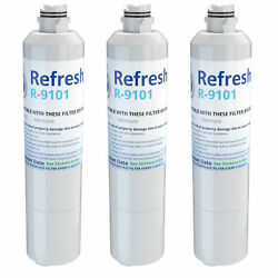 Refresh Water Filter - Fits Samsung Rs261mdrs/xaa Refrigerators 3pack