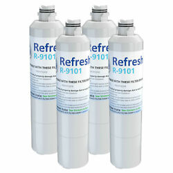 Refresh Water Filter - Fits Samsung Rs261mdrs/xaa Refrigerators 4pack