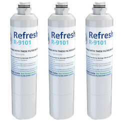 Refresh Replacement Water Filter - Fits Samsung Rs261mdrs Refrigerators 3 Pack