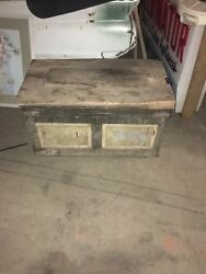 19th Century Antique Tool Chest Coffee Table Or Man Cave Piece. American Made
