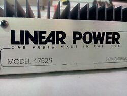 LINEAR POWER Car Amplifier SERVO SUB AMP 1752S WWOOFERS RARE VINTAGE USA MADE