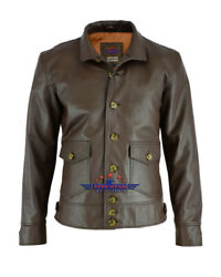 Military Naval Pilot Real Leather Jacket Stand-up Collar Sea Land Flying Boats