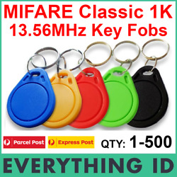 Mifare Classic 1k S50 13.56mhz Key Tag Fob Iso14443a Chip Card Fobs Rfid Nxp Nfc