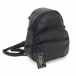 Leather Backpack Purse Mid Size amp; Convertible into single strap sling Bag $24.99