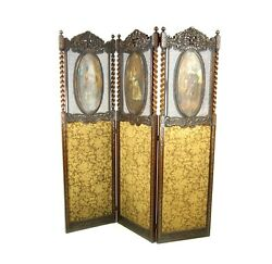 Antique Room Divider Privacy Screen Vintage Partition England 1890b999