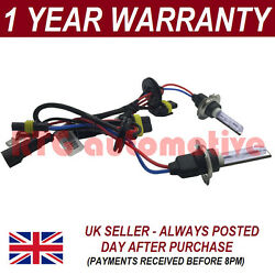 2X BULBS FOR AFTER MARKET HID CONVERSION KIT XENON 8000K BLUE 55W PLUG IN