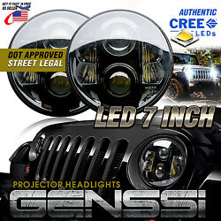 Projector LED Headlights wCREE LEDs Best Beam Pattern for Jeep Wrangler