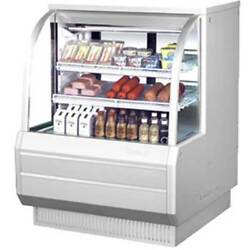 Turbo TCDD-48H-W-N Bakery or Deli Case Refrigerated Curved Glass 48-12