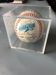 Rare 1998 Rays Autographed Ball | 31 Sigs Incl. Boggs, Mcgriff, Flaherty, Etc.