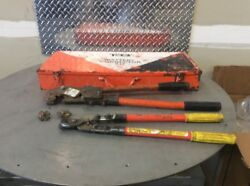 Ratcheting Crimper, Thomas And Betts, Tbm5-s,364rf Cutters , Combo Kit With Case
